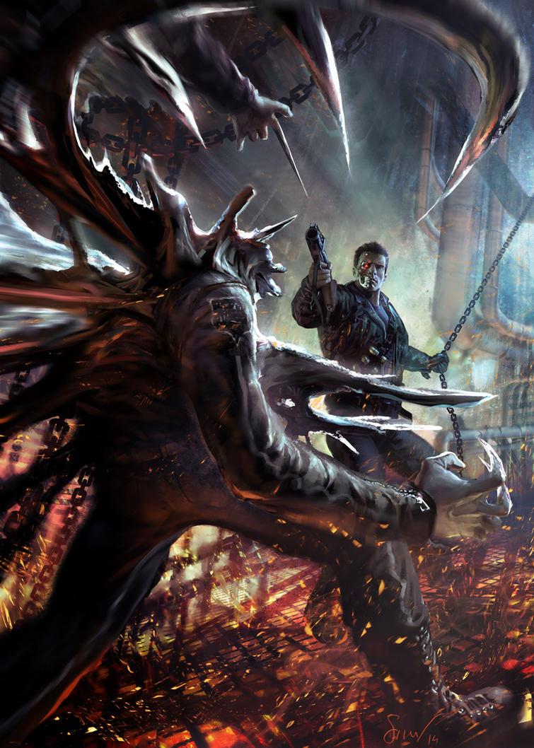 Terminator2 commission by NicolasSiner