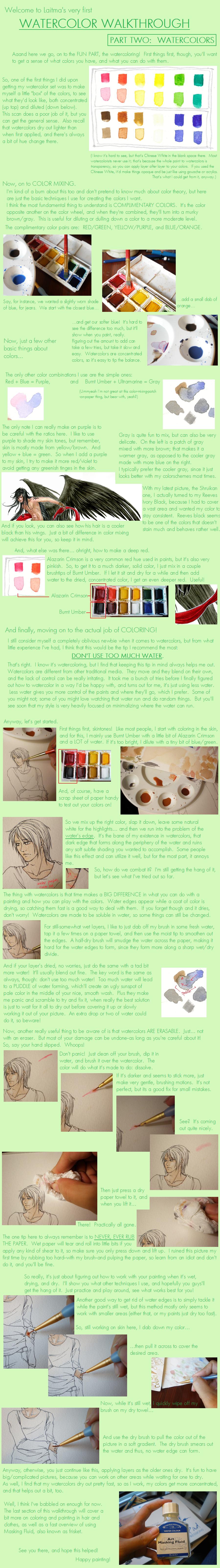 Watercolor Walkthrough Part 2 by Laitma