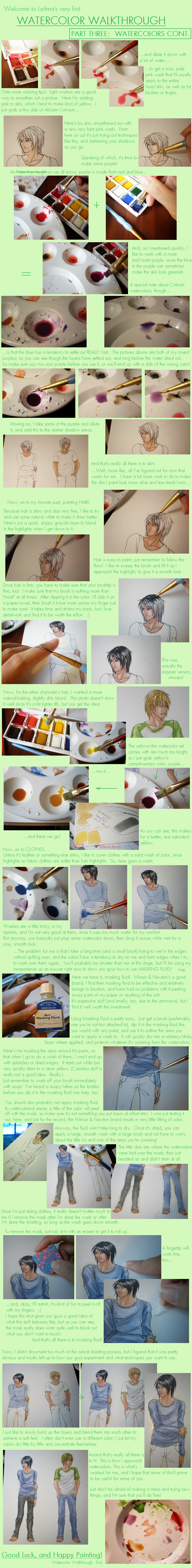 Watercolor Walkthrough Part 3 by Laitma