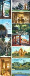 Sketchdump 54 - Gouache Paintings (2017) by Laitma