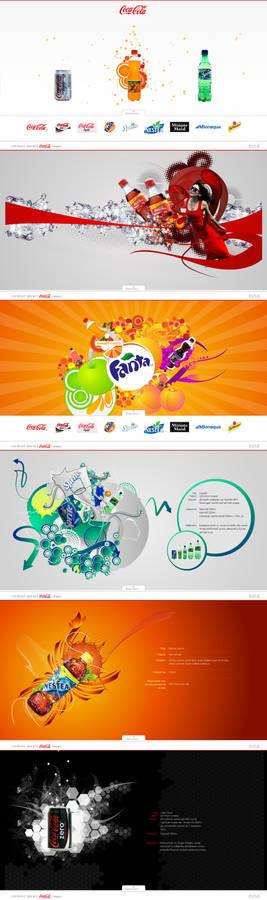 coca-cola products page