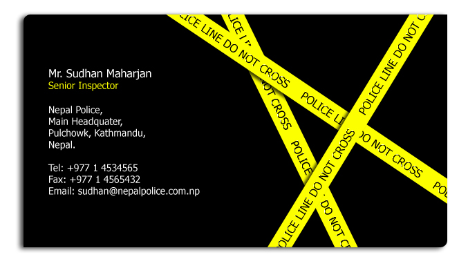Police business card by najirs s on deviantart police business card by najirs s colourmoves