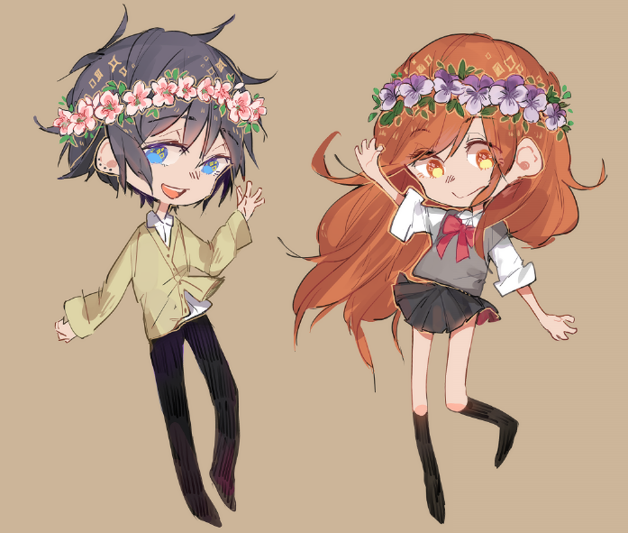 horimiya + flower crowns! by Pottetto