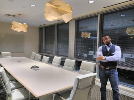 D'Vaughn Bell at New Office in Texas