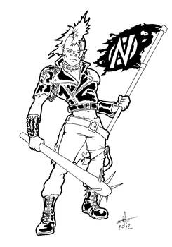 Conflict Warrior (inked version)