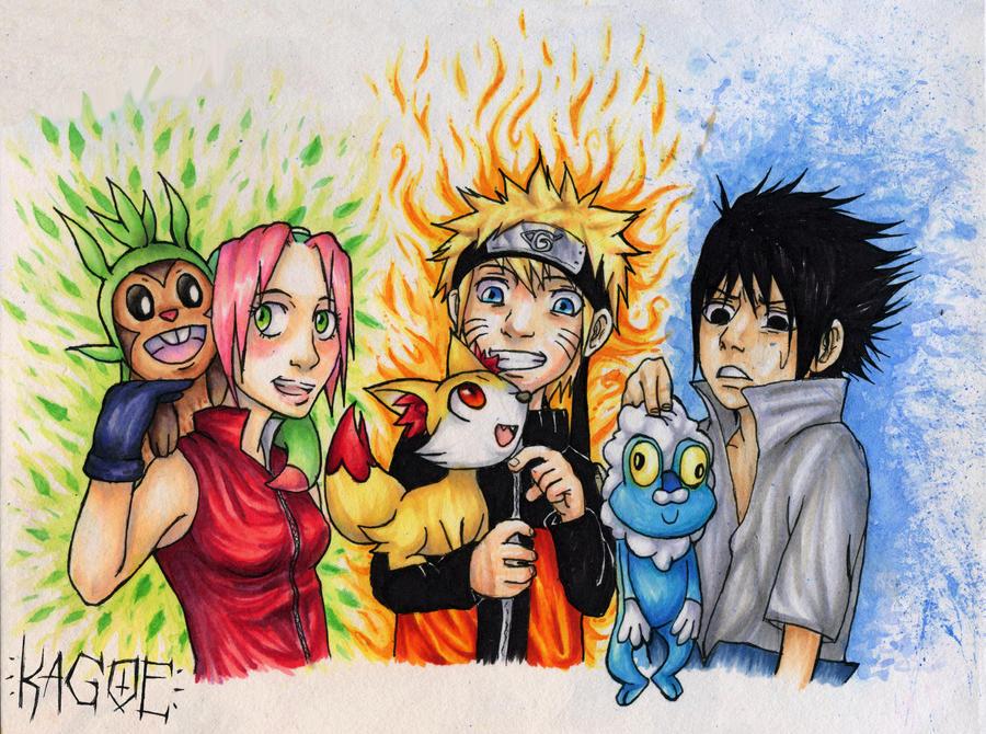 Naruto meets Generation 6 by Kagoe