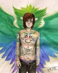 Mitch Lucker : Owl Tattoo by Kagoe