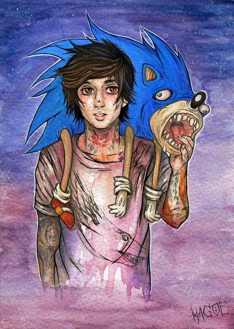 Oli and Sonic by Kagoe
