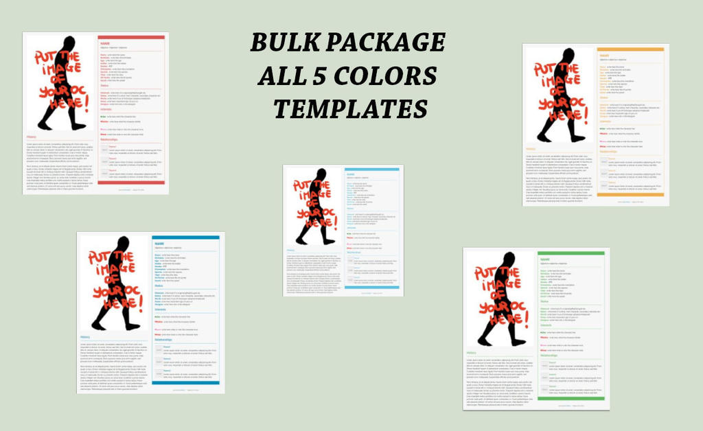 HTML bulk package character template toyhouse by ELLRarte on
