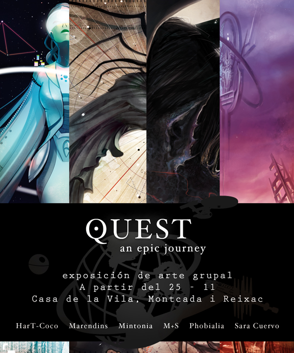 QUEST group art exhibition by SaraCuervo