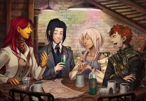 Meeting Friends (c)