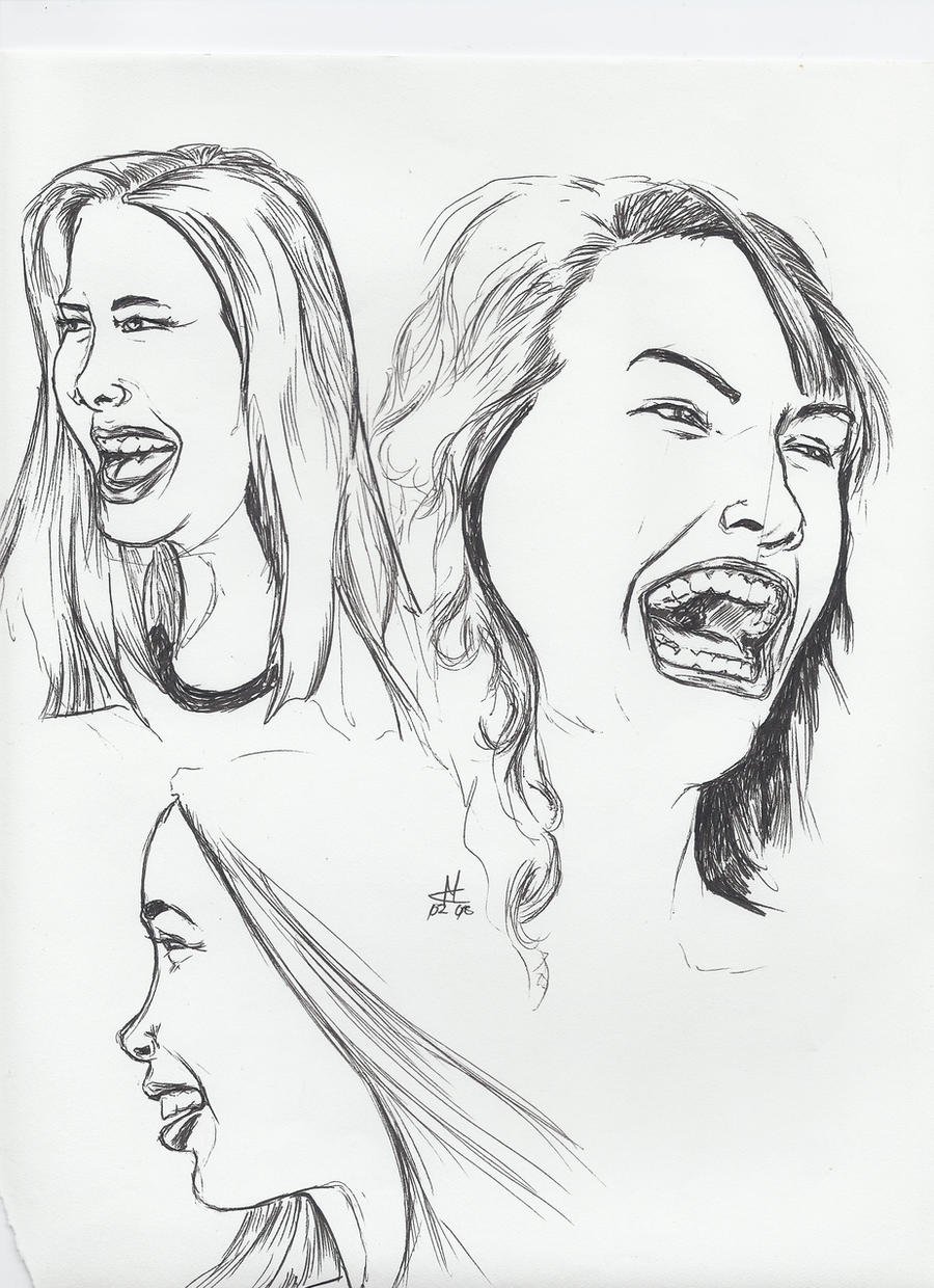 sketches of people laughing by chrisillustration on DeviantArt