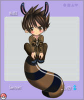 Pokemon Gijinka: Sentret by Sor2Y