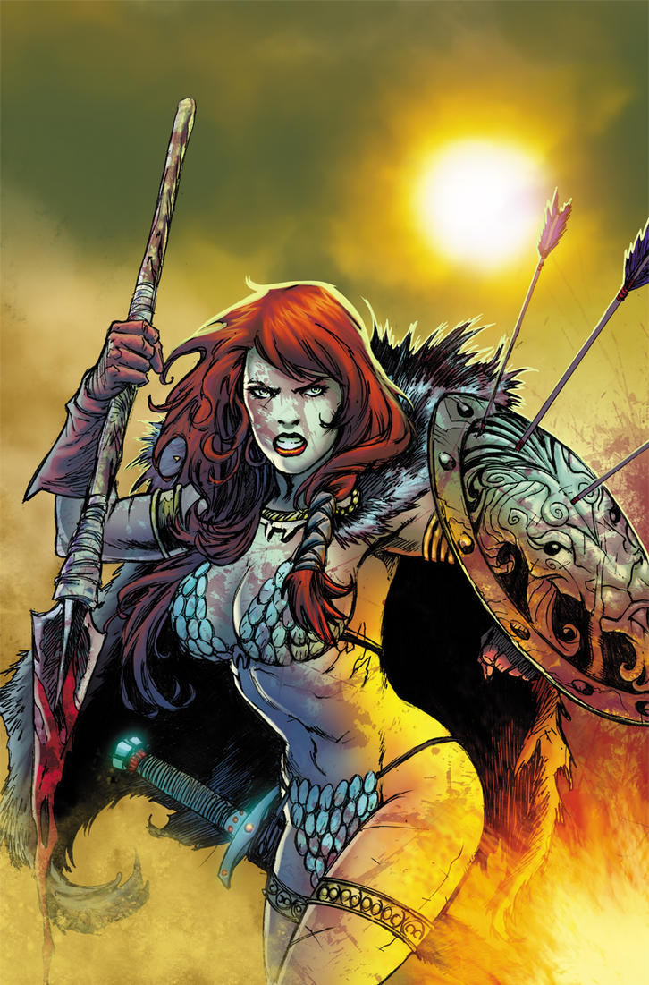 Red Sonja issue 34 color sample by mikestefan by mikestefan