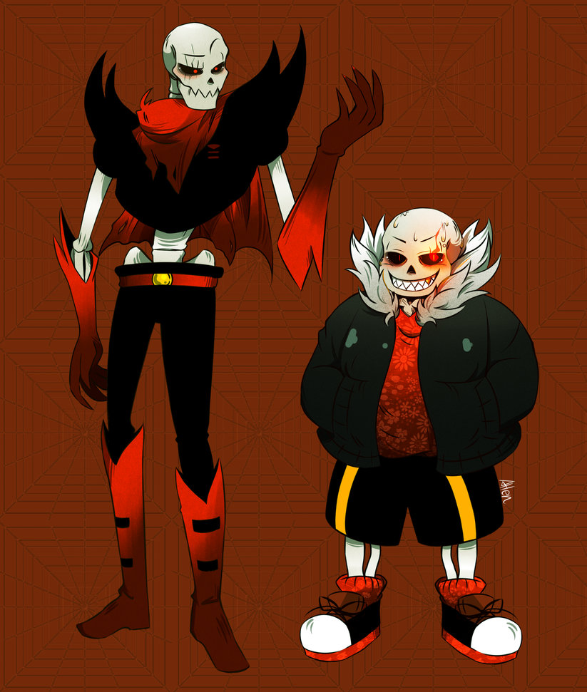 Underfell sans and papyrus song rus - b5a