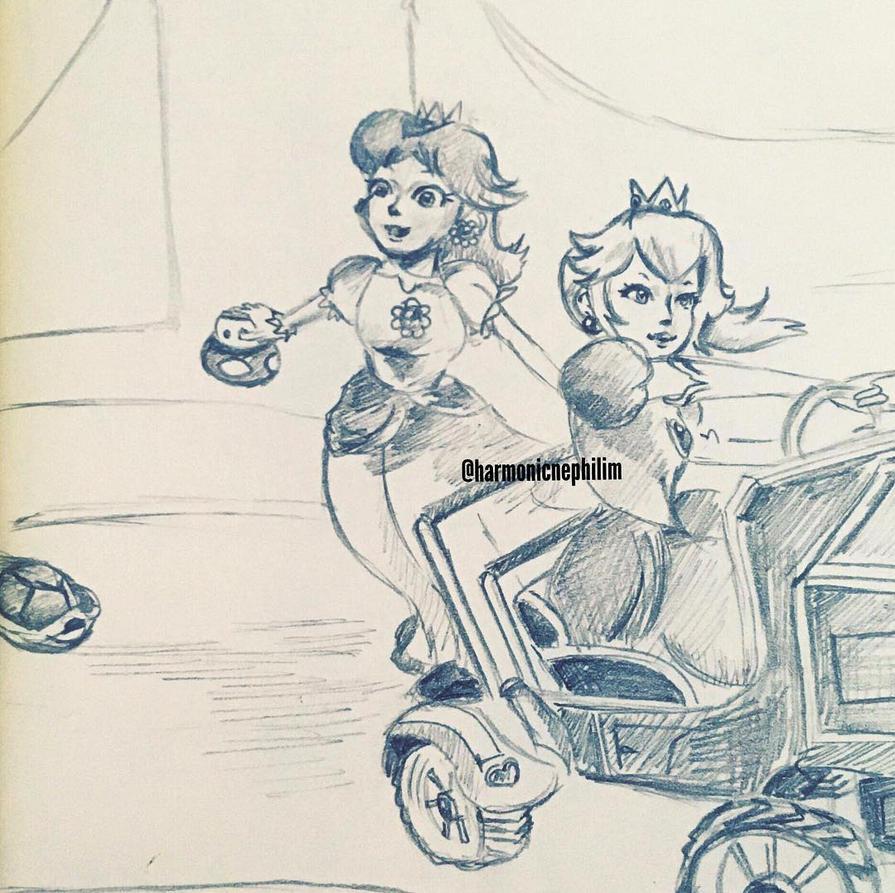 Mario Kart Double Dash by kirstenmarquisart