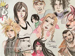 Final Fantasy VII Remake Characters by kirstenmarquisart