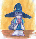 Lorelei: Drink tea and read books aquarelle