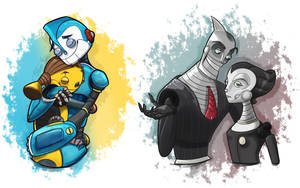 Robots (My main pairings) (SPEEDPAINT)