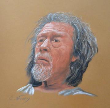 John Hurt's portrait 1 by Andromaque78