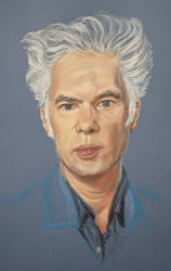 Jim jarmusch's portrait by Andromaque78