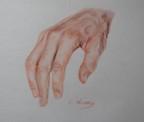 Tom's Hand 24 'Sitting' by Andromaque78