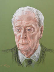 Michael Caine's portrait by Andromaque78