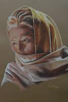 Tilda Swinton's portrait 3 by Andromaque78