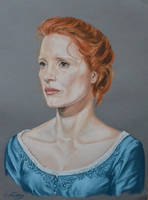 Jessica Chastain's portrait by Andromaque78