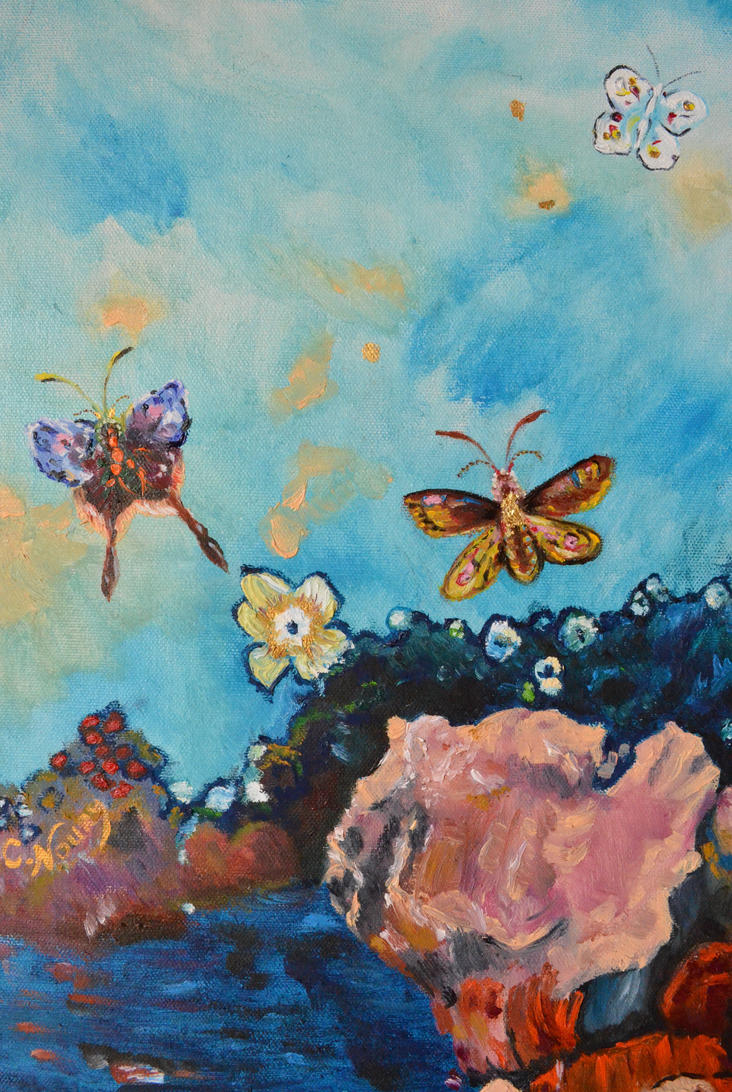 Hommage a Odilon Redon detail 2 by Andromaque78 on DeviantArt