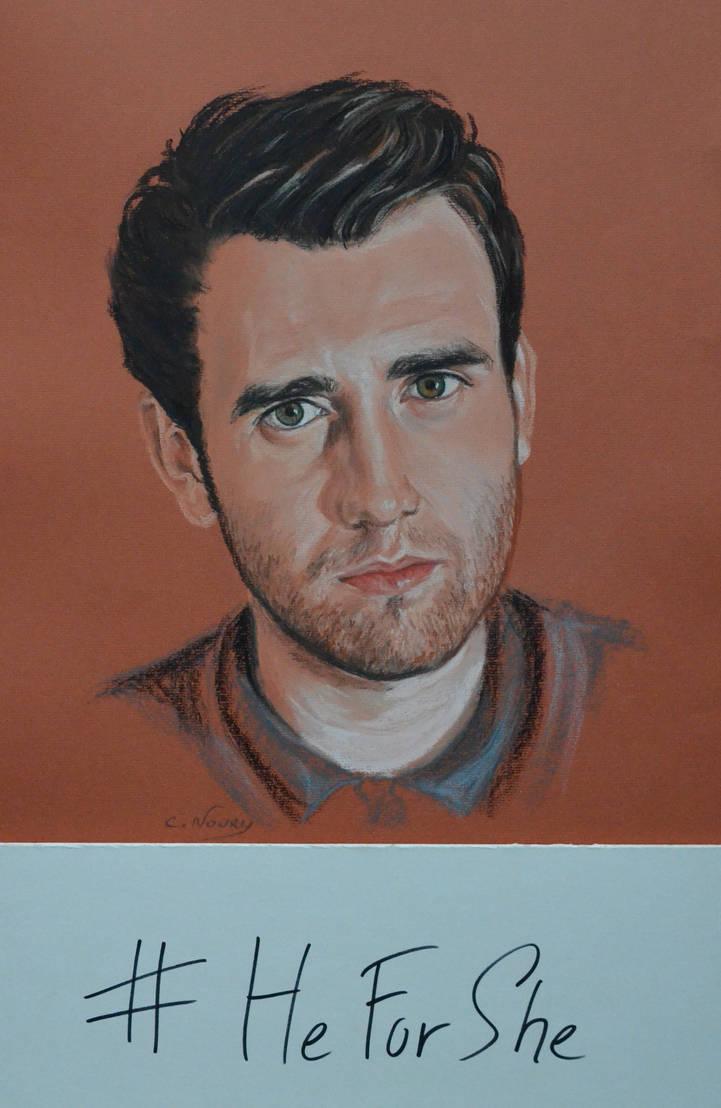 Matthew Lewis portrait 'Heforshe' by Andromaque78