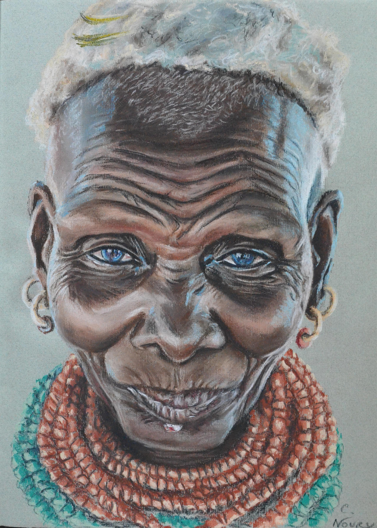 Vieille femme noire, Old black woman by Andromaque78