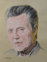 Christopher Walken Portrait by Andromaque78