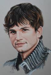 Ashton Kutcher by Andromaque78