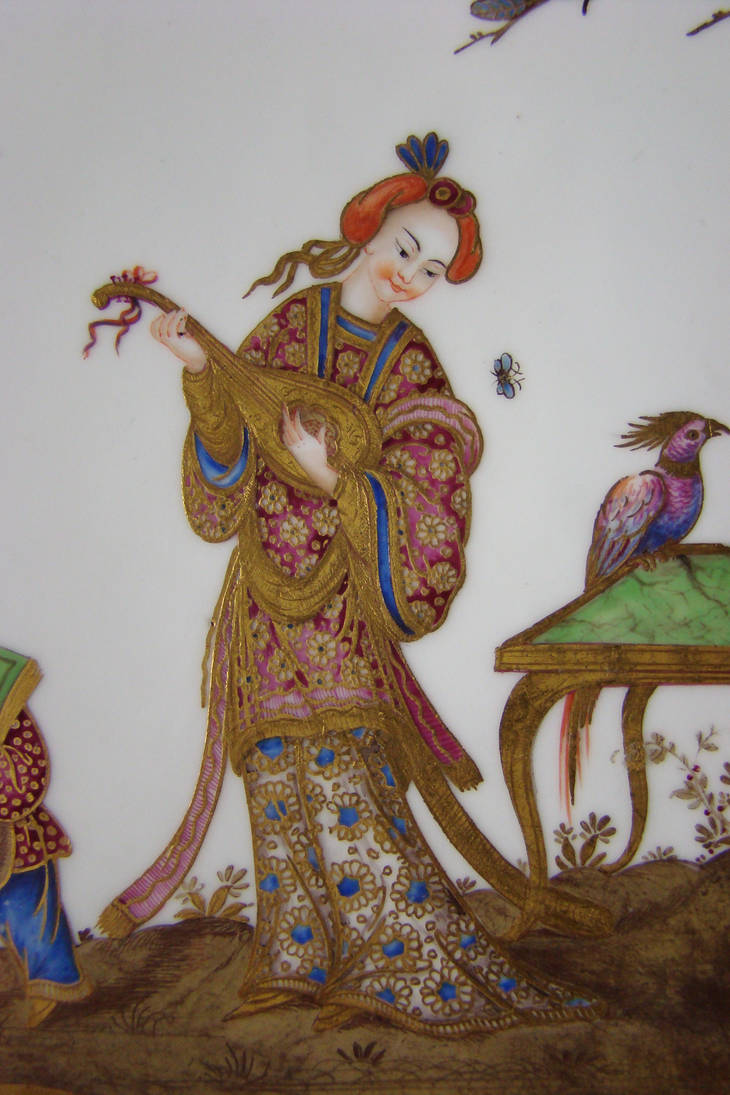 Detail of a Sevres porcelain plate 3