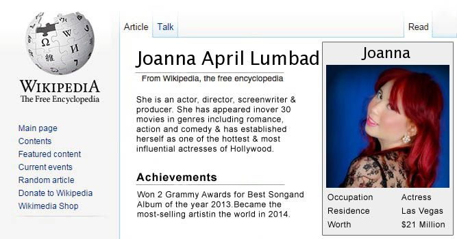 wikipedia (sample) Joanna April Lumbad by lumbad2010 on DeviantArt