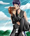 I'll protect you! (shuuhei and Tsukiko)