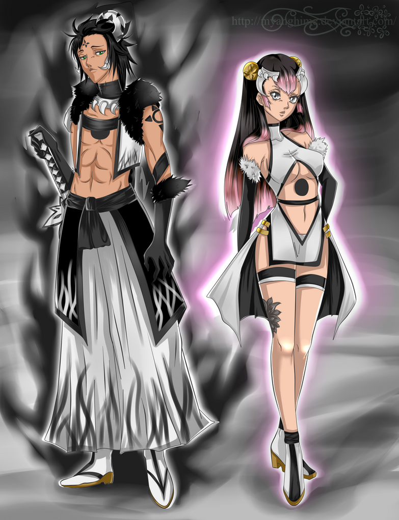 Arrancar OC - Thanatos and Nanami by MyangHime