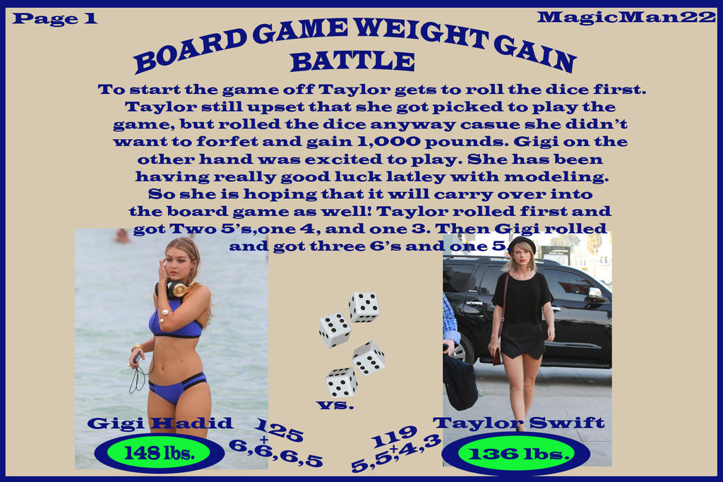 Board Game Weight Gain Battle (Gigi vs  Taylor) by