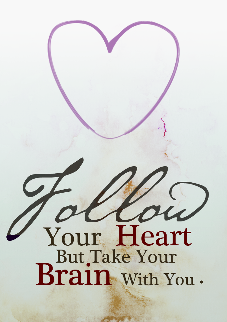 تصميم صورة خلفية ايفون اتبع قلبك