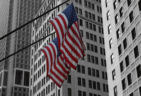 Flags in New York City by lowjacker