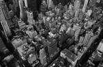 Looking down on New York City