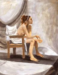 Model in Paint by pettyartist