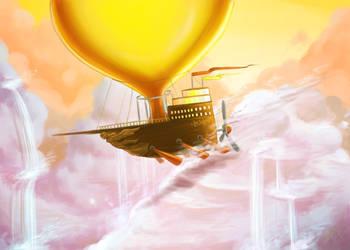 Flight of the Sky Siren by pettyartist