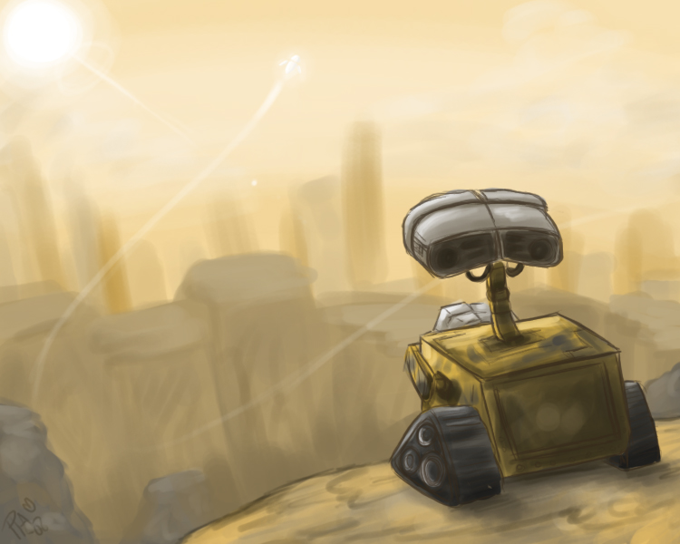 WALL-E-- Speedpaint by pettyartist