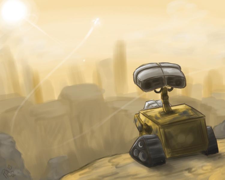 WALL-E-- Speedpaint by pettyartist