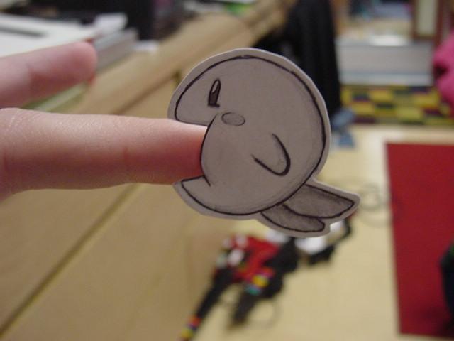 Paper Kirby by pettyartist