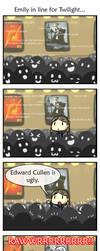 Emily vs. Cullen by pettyartist