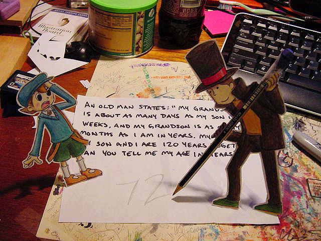 Paper Professor Layton + Luke by pettyartist