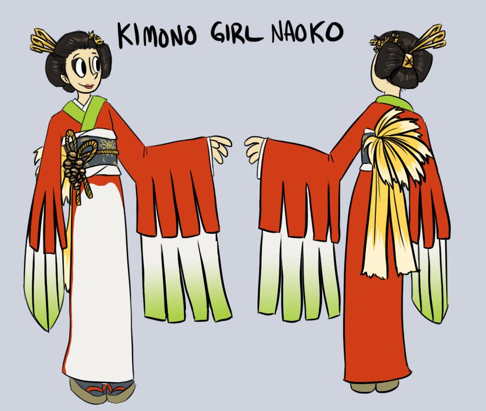 Kimono Girl Naoko- Character Sheet by pettyartist